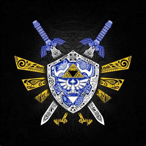 Duvet Cover Gray Artist Designed Hylian Shield Legend Of Zelda Bedding