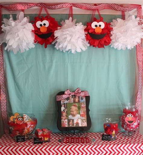 Handmade Birthday Decorations - handmade happiness elmo 2nd birthday