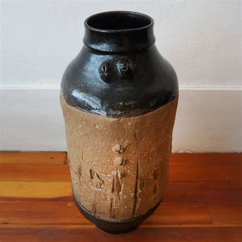 Floor Vase by Large Brutalist Ceramic Floor Vase At 1stdibs