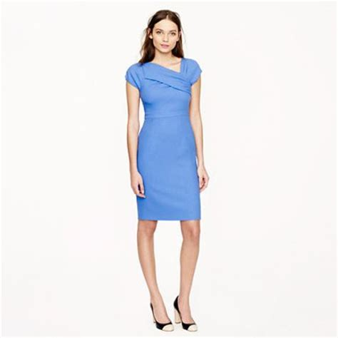 J Crew Origami Dress - j crew origami dress in wool crepe in blue hydrangea