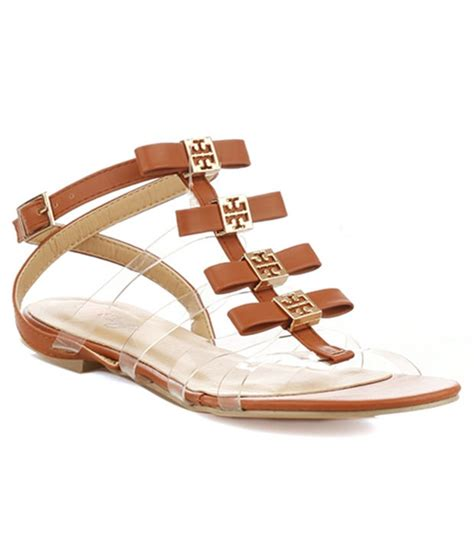 vero couture see through sandals brown 20