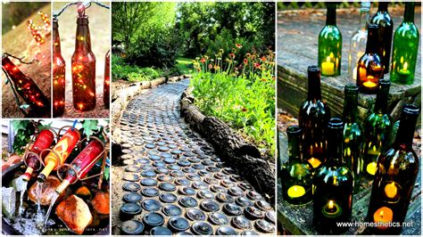 Outdoor Home Christmas Decorating Ideas 19 sustainable diy wine bottle outdoor decorating ideas