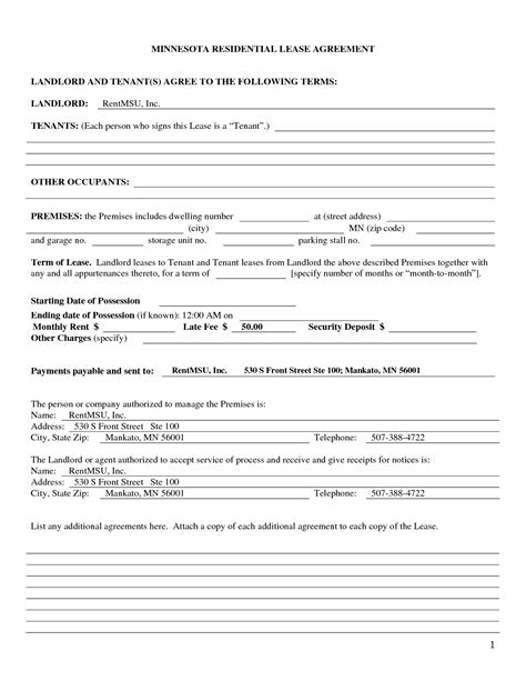 Landlord Agreement Template by Landlord Tenant Agreement Template Tenancy Agreement