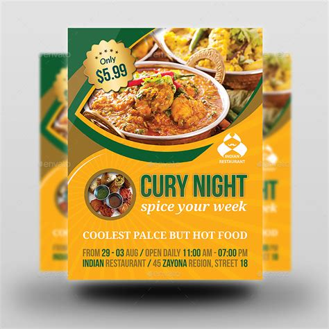 free templates for restaurant flyers indian restaurant flyer template by owpictures graphicriver