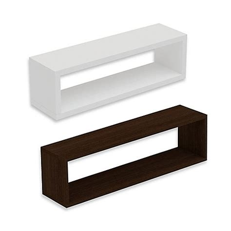 bed bath and beyond shelving manhattan comfort tichla rectangle 2 0 floating shelf