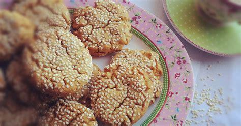 Peanut Sesame Shortbread Cookies 1 Babaduck Peanut Butter Sesame Cookies