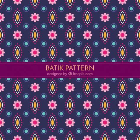 floral pattern batik decorative flower pattern in batik style vector free