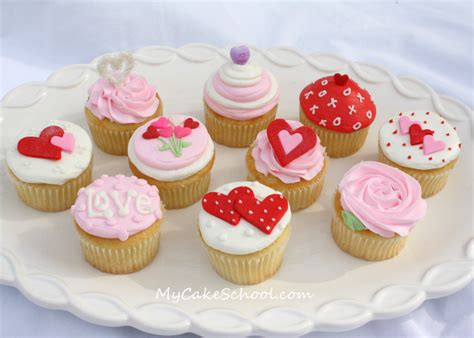 cupcakes design for valentines s day cupcake tutorial my cake school my cake