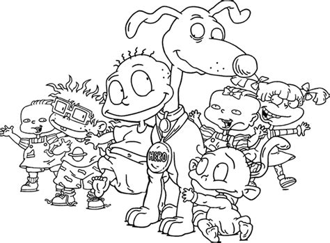 13 rugrats coloring page to print print color craft