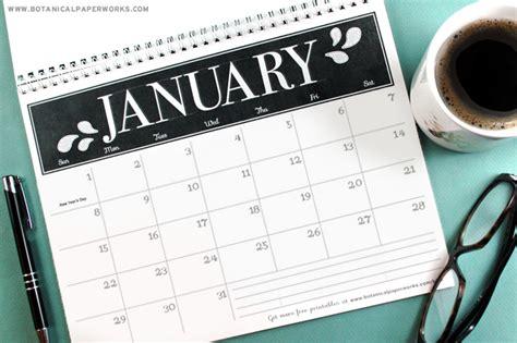 printables  stylish  calendars blog