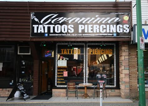 tattoo shops near ne geronimo piercing studio burnaby business story