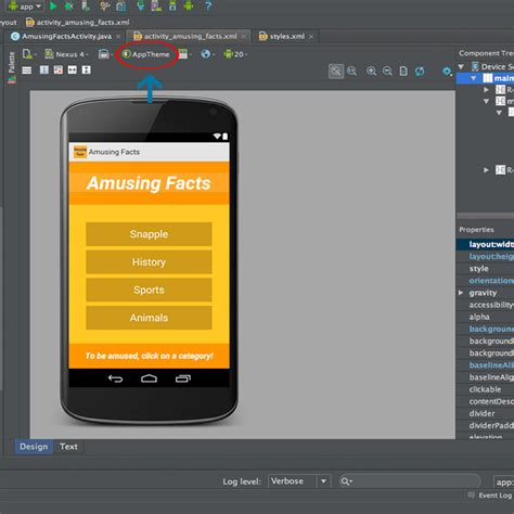 App Themes Android Studio | android studio app with no title bar