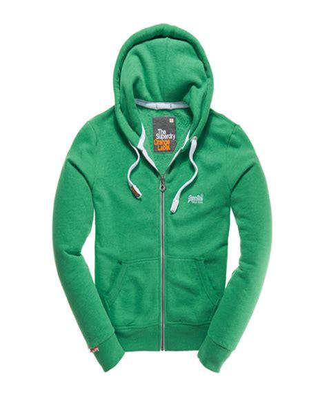 New Jaket Sweater Polos Hoodie Zipper Orange Oren mens orange label zip hoodie in green marl superdry