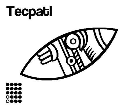 imagenes aztecas para imprimir dibujo de los d 237 as aztecas el pedernal t 233 cpatl para