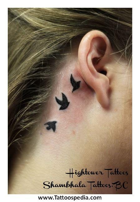 owl tattoo ear owl tattoos behind ear 3