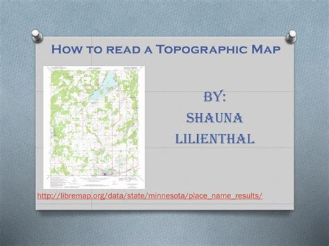 how to read a topographic map ppt how to read a topographic map powerpoint presentation id 2088433