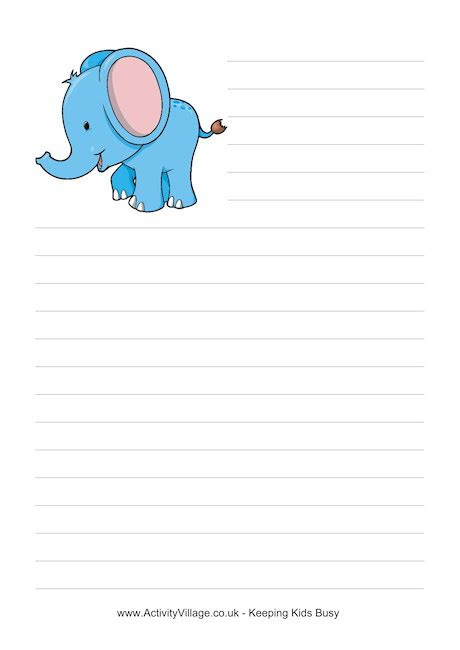 elephant writing paper elephant writing clipart clipground