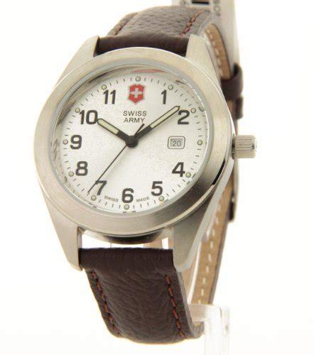 Swiss Army Sa099 Brown Silver womens victorinox swiss army brown leather garrison silver