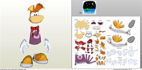 papercraft pdo file template for rayman rayman