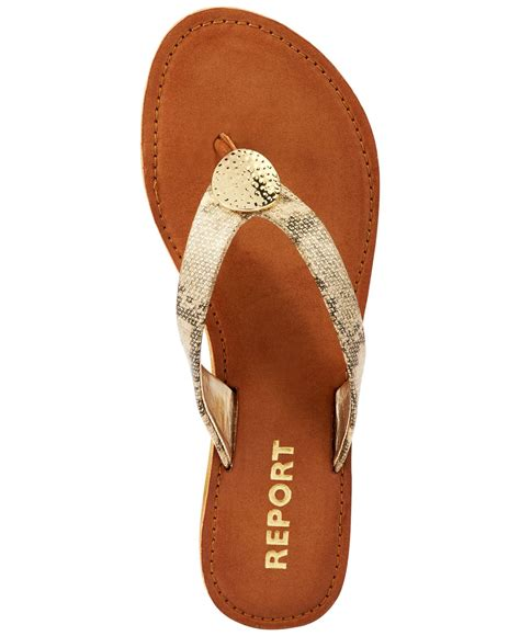 report gold sandals report shields flat sandals in metallic lyst