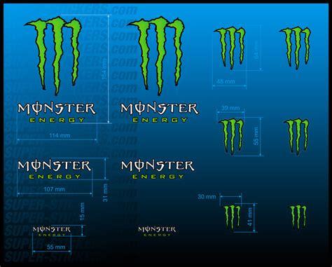 Monster Drink Aufkleber by Monster Energy Drink Motocross Quad Aufkleber Sticker