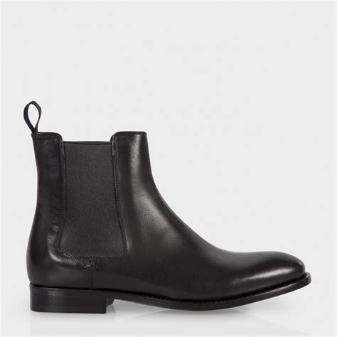 black leather chelsea boots paul smith s black calf leather bertram chelsea
