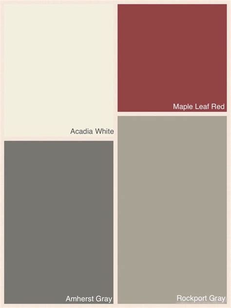 benjamin colours for exterior of house colour rockport gray trim acadia white