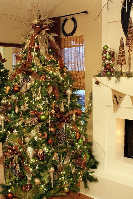 rustic yet elegant christmas tree all i want for