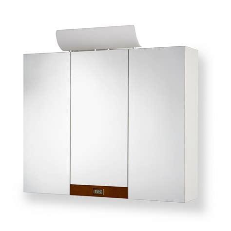 spiegelschrank uhr spiegelschrank mit beleuchtung uhr 3 t 252 rig wei 223 bad