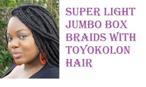 can i get box braids if i hair nappy life super light jumbo box braids with toyokalon