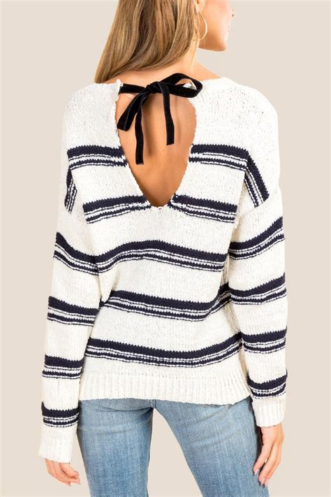 Bow Back Sweater juniper bow back sweater s