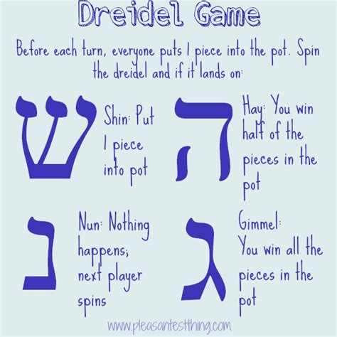 printable directions on how to play dreidel happy hanukkah