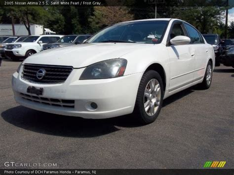nissan altima white 2005 2005 nissan altima 2 5 s in satin white pearl photo no