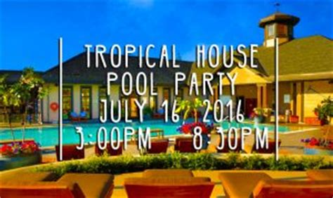 house pool party tropical house pool party bear mountain