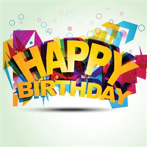 happy birthday 3d logo design creative happy birthday fonts vector