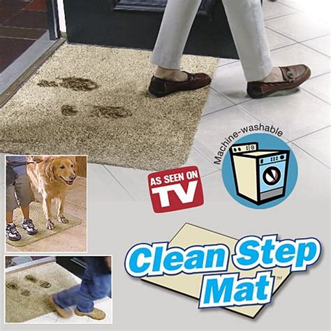 Clean Step Mat by Stay Calm And Prevent A Mess With Dirt Trapper Mats Funk