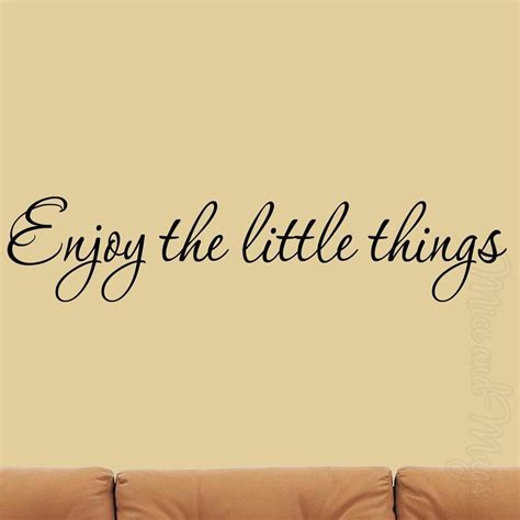 quotes home decor enjoy the little things wall decal inspirational quotes