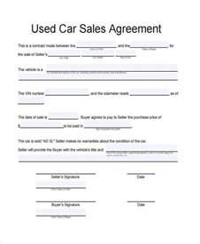 used vehicle sales agreement template contract forms in pdf