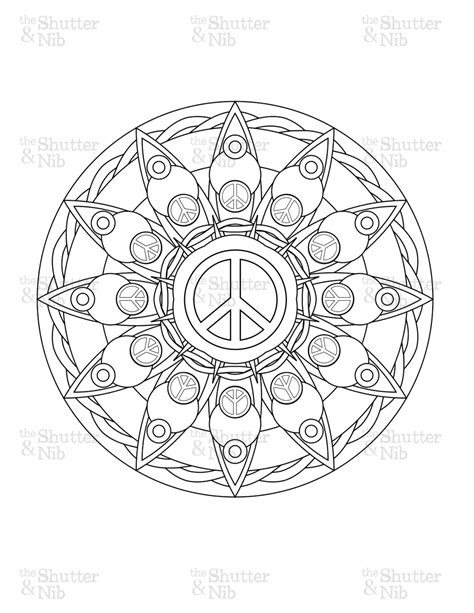 Peace Mandala Coloring Pages coloring pages peace sign freecoloring4u