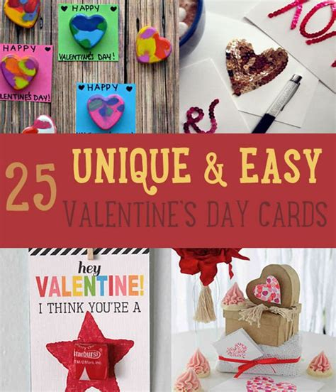 cool valentines cards to make 25 unique and easy valentines day cards diy crafts