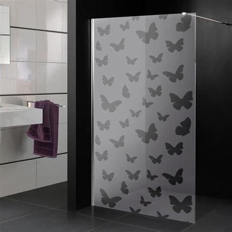 adesivi per box doccia adesivi follia adesivo sabbiato per box doccia farfalle