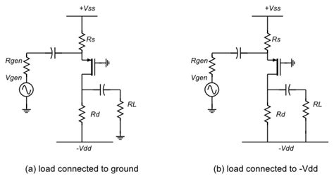 transistor common gate transistors common gate lifier with load connected to negative dc bias electrical