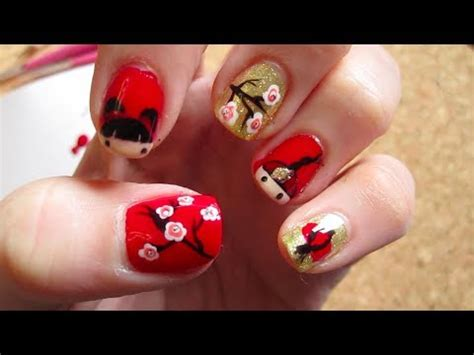 new year monkey nail new year nail tutorial