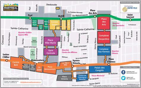 map of underground in montr 233 al underground city discover restaurants