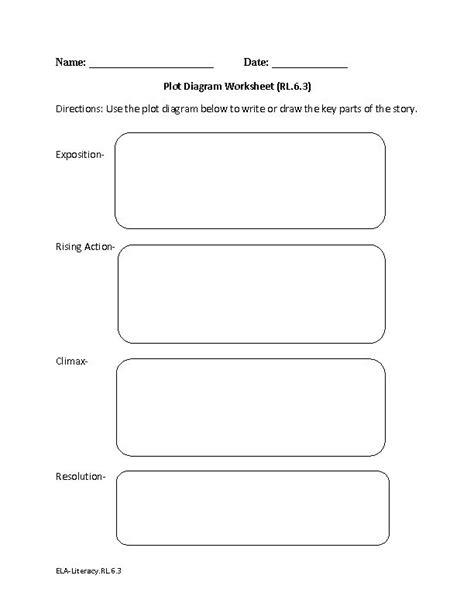 diagram worksheet 6th grade 6th grade common reading literature worksheets
