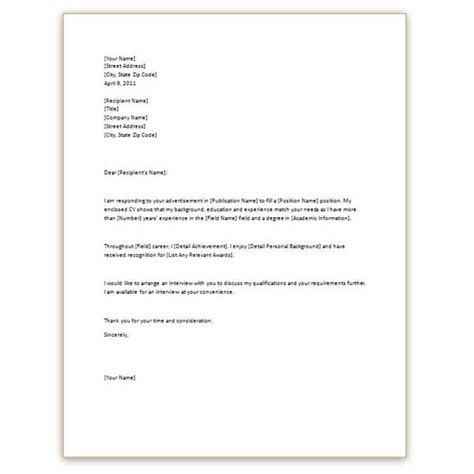 cv with covering letter 3 free cv cover letter templates for microsoft word
