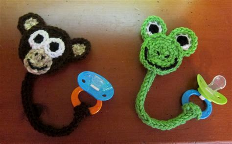 free crochet pattern pacifier holder free pattern this technique used to make the monkey and