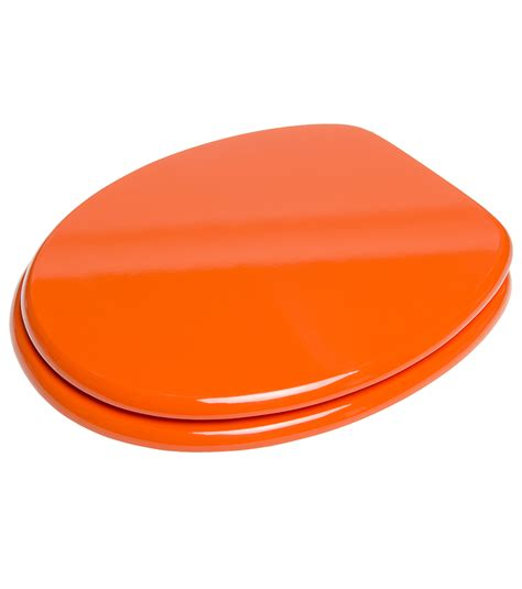 soft orange soft close toilet seat orange