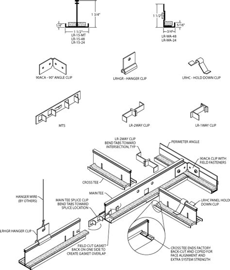 Ceiling Components Suspended Ceiling Grid Parts Winda 7 Furniture
