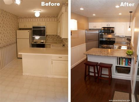 beautiful kitchen remodel on a budget before and after pictures removeandreplace